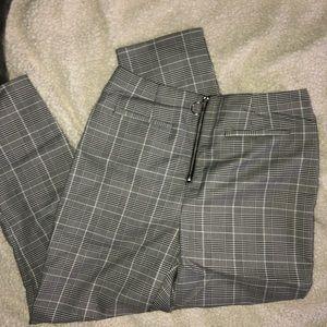 Plaid zipper pants